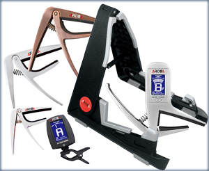 Aroma Guitar Accessories: tuners capos and stands