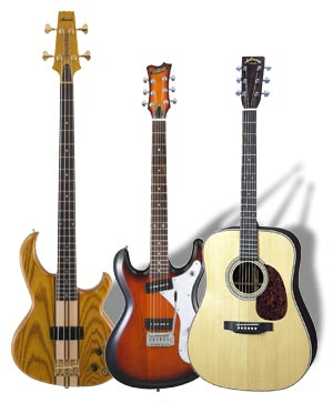 aria guitars and basses, Benelux distribution by Dick Visser Music Sales