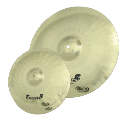 "Orion TW-40 cymbal set of 13"" hihat and 18"" crash/ride"