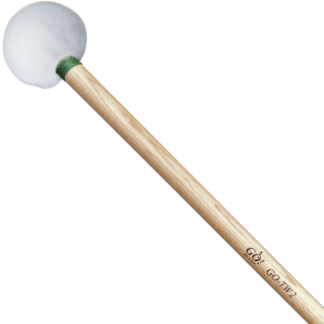 GO TW2 Timpani mallets, Green (Medium), wood handle, pair