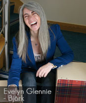 DG cajons endorser Evelyn Glennie