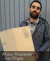 DG cajons endorser Manu Masaedo