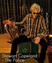 DG cajons endorser Stewart Copeland