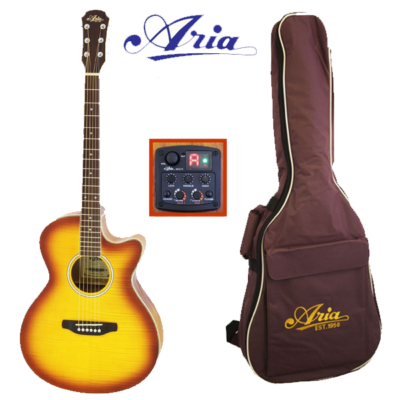 ARIA-FET01FX-VS Wester gitaar met pick-up / cu-away en gig bag