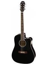 ARIA-AW15CE/BK Western gitaar met cut-away en pick-up, zwart