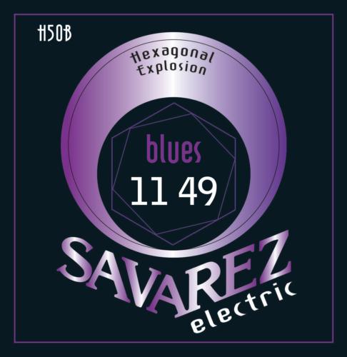 SAV-H50B Electriswche snaren set Hexagonal Explosion Bluesy 011-049