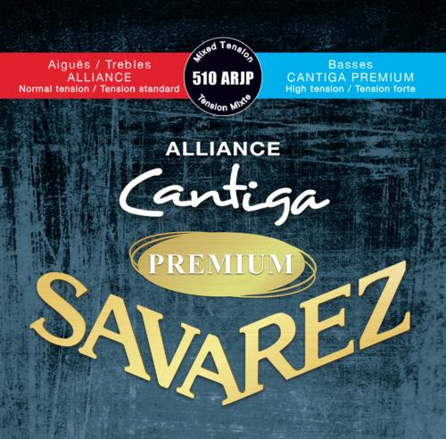 SAV-510ARJP Nieuw Alliance canti9ge rood/blauw klassike snaren set mixed tension
