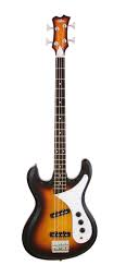 ARIA-DMB01/3TS Retro bas gitaar