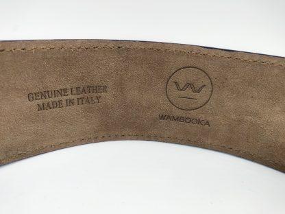 Genuine leather guitar strap inside suede